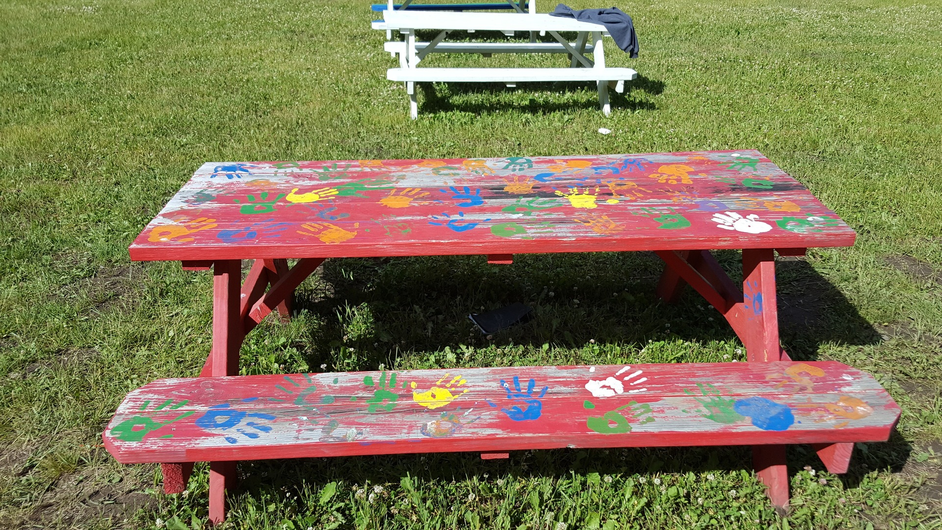 23 - Hand Painted Picnic Table