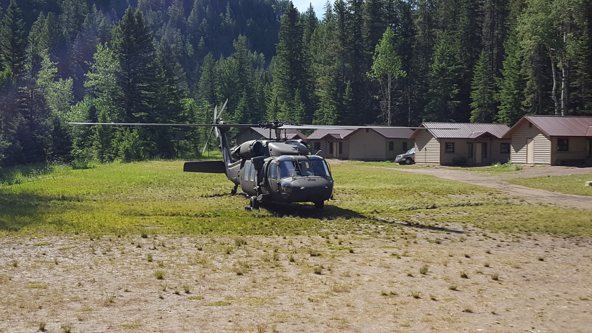 28 - Blackhawk Helicopter Lands