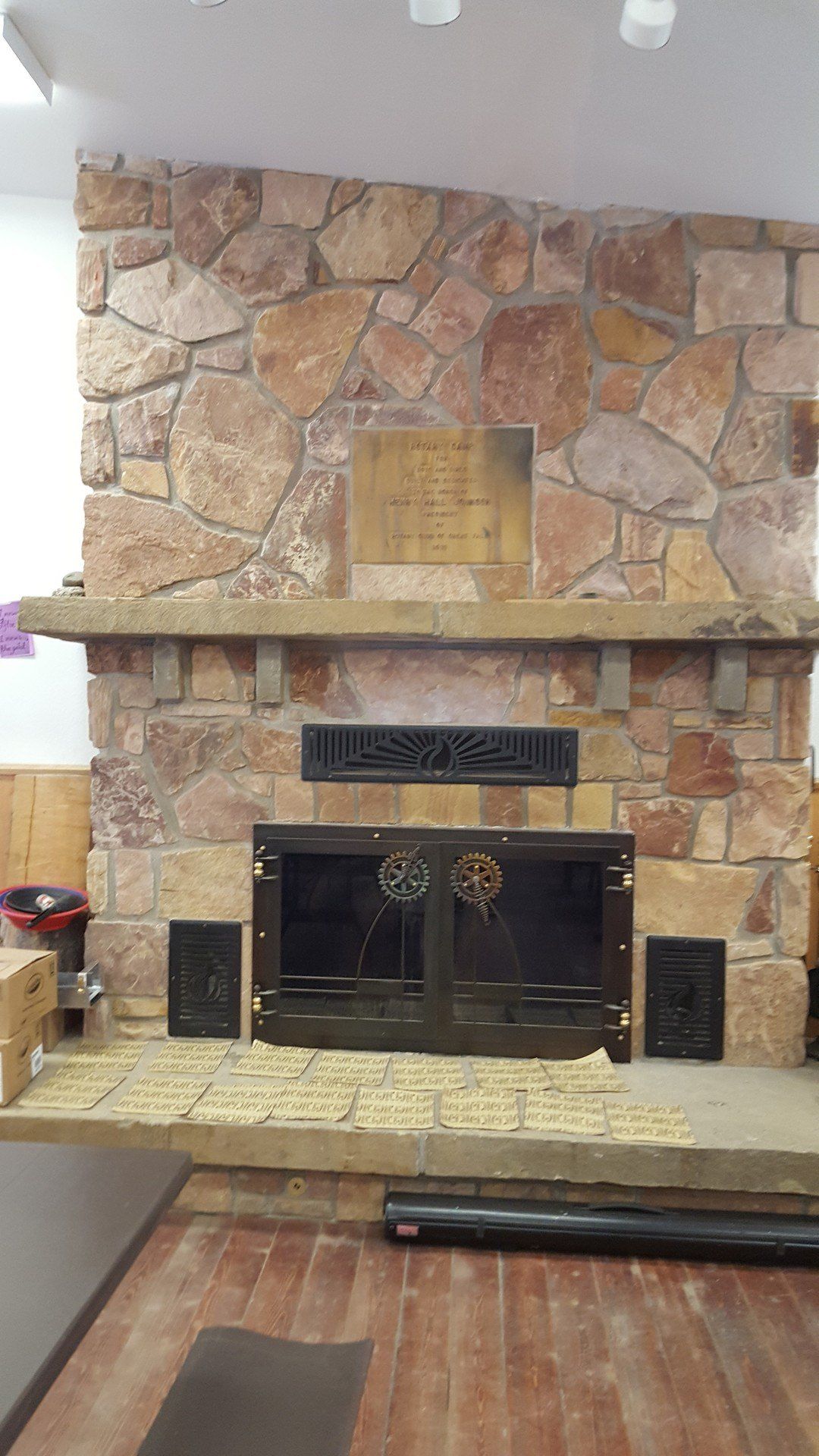 3- Fireplace With Plaque