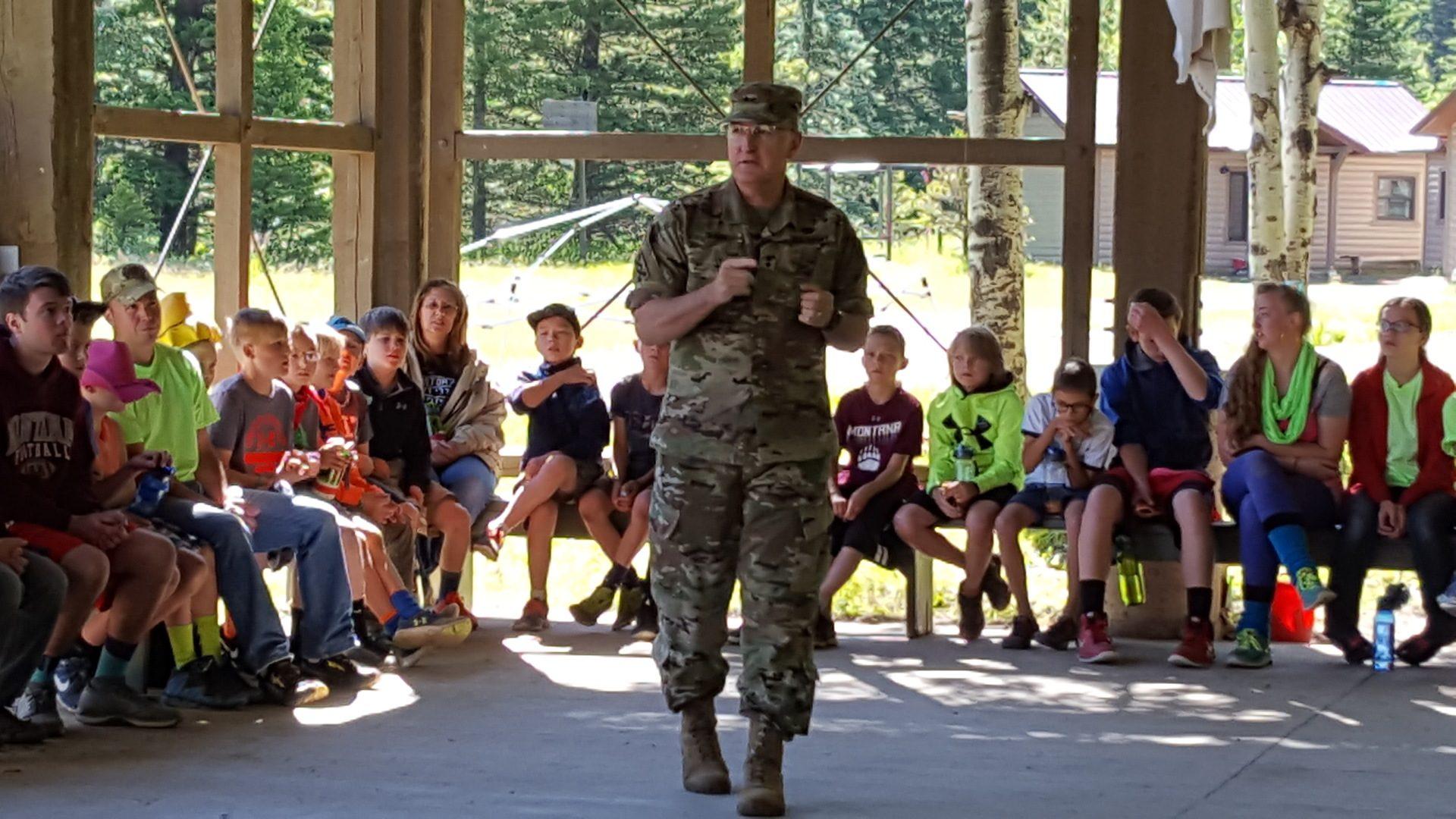 30 - Major General Matthew Quinn talks to kids