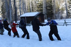 Boy Scout Winter Camp Tug a War